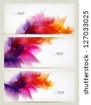set of floral element and... | Shutterstock .eps vector #127033025