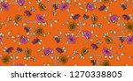 seamless floral pattern in... | Shutterstock .eps vector #1270338805