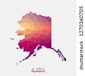 alaska map in geometric... | Shutterstock .eps vector #1270360705
