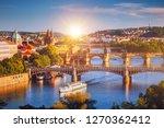 Prague Scenic Spring Sunset...