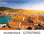 view at town trogir  old... | Shutterstock . vector #1270370602