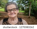 smiling elderly farmer woman... | Shutterstock . vector #1270383262