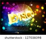 vector disco background with... | Shutterstock .eps vector #127038398