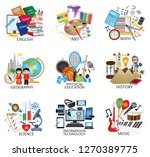 school subject icons   english  ... | Shutterstock .eps vector #1270389775