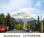 townscape of banff and cascade...