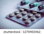 pharmacy theme of medicine... | Shutterstock . vector #1270402462