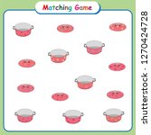 matching game for kids ... | Shutterstock .eps vector #1270424728