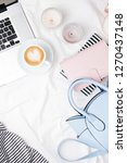 fashion blogger workspace with...   Shutterstock . vector #1270437148