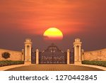 the main entrance of the house...   Shutterstock . vector #1270442845