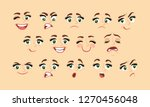female abstract cartoon face... | Shutterstock .eps vector #1270456048