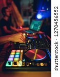 dj plays live set and mixing... | Shutterstock . vector #1270456552