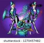 Burlesque Dancer And Gramophon...