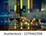 closeup of a glasses of red... | Shutterstock . vector #1270461508