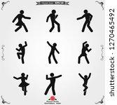 dancing vector icon....   Shutterstock .eps vector #1270465492