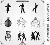 dancing vector icon.... | Shutterstock .eps vector #1270465495