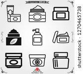 face cream vector icon....   Shutterstock .eps vector #1270465738