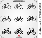 bicycle icon. vector element... | Shutterstock .eps vector #1270466098