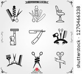 barber icon vector  for web and ...   Shutterstock .eps vector #1270466338