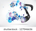 abstract music background with... | Shutterstock . vector #127046636