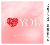 valentines day vector... | Shutterstock .eps vector #1270482592