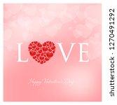 valentines day vector... | Shutterstock .eps vector #1270491292