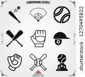 baseball icon vector. premium...   Shutterstock .eps vector #1270495822