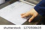 machine for embossing metal...   Shutterstock . vector #1270508635