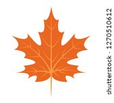 maple leaf icon. flat...   Shutterstock . vector #1270510612