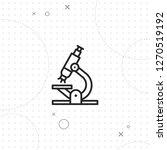 laboratory icon  microscopic...   Shutterstock .eps vector #1270519192