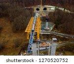 aerial of complex new railway...   Shutterstock . vector #1270520752