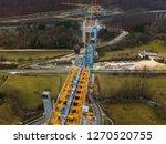 aerial of complex new railway...   Shutterstock . vector #1270520755