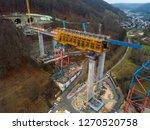 aerial of complex new railway...   Shutterstock . vector #1270520758