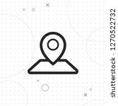 mark on the map icon  vector...   Shutterstock .eps vector #1270522732