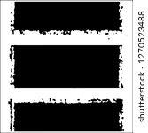 set of grunge textures. black... | Shutterstock .eps vector #1270523488