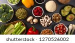 a background of fresh fruits... | Shutterstock . vector #1270526002