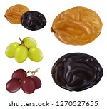 raisin  dried grape. 3d... | Shutterstock .eps vector #1270527655