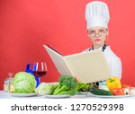 culinary expert. woman chef... | Shutterstock . vector #1270529398