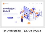 landing page with man standing... | Shutterstock .eps vector #1270549285