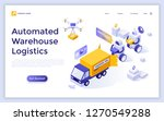landing page with robots... | Shutterstock .eps vector #1270549288