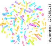 sprinkles grainy. sweet...   Shutterstock .eps vector #1270551265