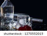 a bottle of vodka and a glass...   Shutterstock . vector #1270552015