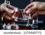 people holding glasses with... | Shutterstock . vector #1270560772