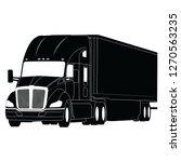 generic semi trailer truck  ...   Shutterstock .eps vector #1270563235