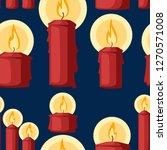 Seamless Pattern. Red Christma...