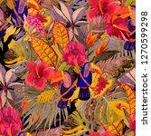 summer exotic seamless pattern. ... | Shutterstock . vector #1270599298