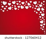 vector   valentine day heart on ... | Shutterstock .eps vector #127060412