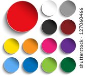 vector   set of colorful paper... | Shutterstock .eps vector #127060466