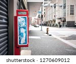 down town vintage pay phone    Shutterstock . vector #1270609012