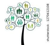 vector illustration of tree... | Shutterstock .eps vector #1270612108