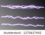 lightning blast vector isolated ...   Shutterstock .eps vector #1270617442